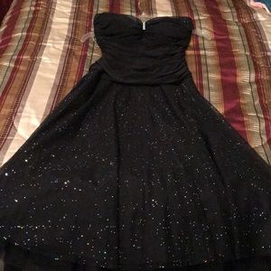 Strapless Black Cocktail Dress Juniors Size 3/4